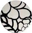 rug #1020238 | round black natural rug