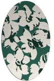 rug #102029   oval green rug