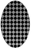 rug #1020392 | oval check rug