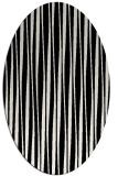 rug #1020491 | oval stripes rug