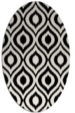 rug #1020570 | oval black natural rug