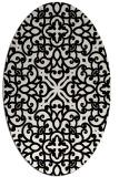 rug #1020610 | oval black traditional rug