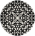rug #1020618 | round black damask rug