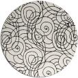 rug #1020658   round black natural rug