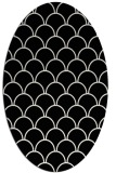 rug #1020810 | oval black traditional rug