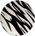 rug #1020838 | round black abstract rug