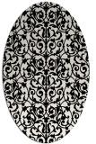 rug #1020930 | oval black natural rug