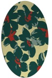 rug #102101 | oval yellow rug