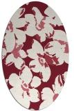 rug #102109 | oval pink natural rug