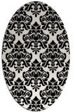 rug #1021090 | oval black rug