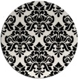 rug #1021098 | round black rug