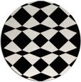 rug #1021118   round black graphic rug