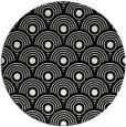 rug #1021138 | round black retro rug