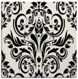rug #1021226 | square black damask rug