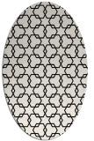 rug #1021230 | oval black geometry rug