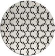 rug #1021238 | round black geometry rug