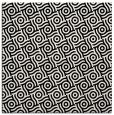 rug #1021286 | square black circles rug