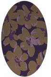 rug #102129 | oval purple rug