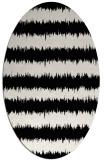rug #1021410   oval black rug