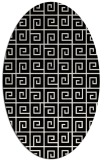 rug #1021530 | oval black graphic rug