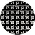 rug #1021538 | round black graphic rug
