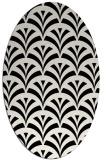 rug #1021550 | oval black retro rug