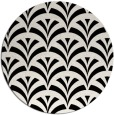 rug #1021558 | round black retro rug