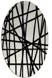 rug #1021730 | oval black stripes rug