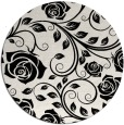 rug #1021838 | round black natural rug