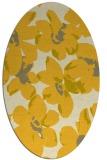 rug #102185 | oval yellow rug