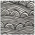 rug #1021926   square black graphic rug