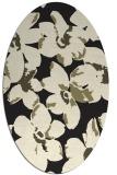 rug #102205   oval black rug