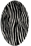 rug #1022050 | oval black stripes rug