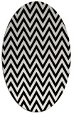 rug #1022130 | oval black retro rug