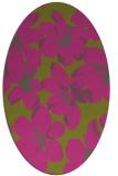 rug #102225 | oval light-green rug