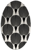 rug #1022250 | oval black graphic rug