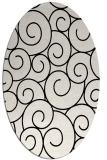 rug #1022270 | oval black circles rug