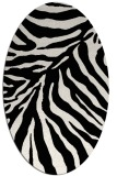 rug #1022330   oval black animal rug