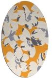 rug #102245 | oval light-orange popular rug