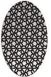 rug #1022650 | oval black geometry rug