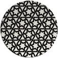 rug #1022658 | round black rug