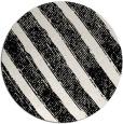 rug #1022918 | round black stripes rug
