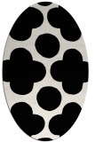 rug #1023050 | oval black circles rug