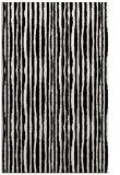 rug #1023174 |  black stripes rug