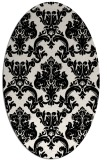 rug #1023250 | oval black traditional rug