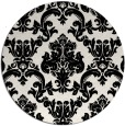 rug #1023258 | round black rug