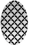 rug #1023590 | oval black rug