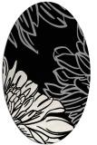 rug #1023730 | oval black natural rug