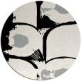 rug #1023798 | round black natural rug