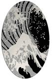 rug #1023810 | oval black natural rug